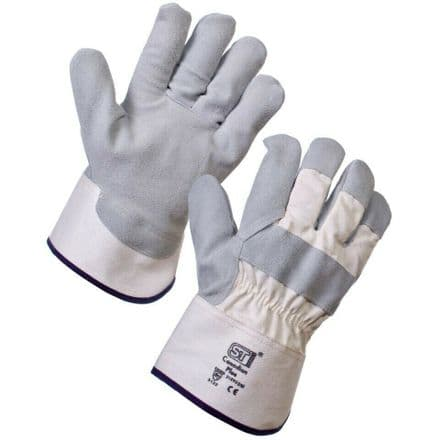 Supertouch Canadian Plus Heavy Duty Safety Work Cotton Warehousing Gloves Rigger
